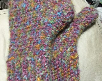 Crochet Wool/Acrylic Mittens