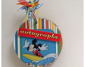 Disney Mickey Mouse & Friends Chipboard Autograph Album