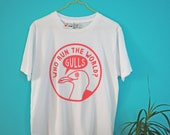 Seagull T-shirt, Funny Illustrated Beyonce Tshirt, Feminist Shirt, Fun Pink Screenprinted Tee, Cute Animal Tshirt, Who Run The World T-shirt