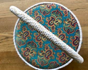 Vintage Retro Wicker Sewing Storage Basket