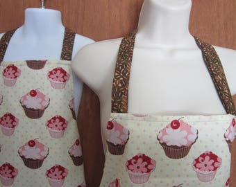 Mother Daughter Full Cupcake Apron Set