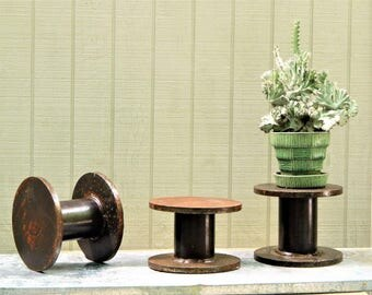 Industrial Home Decor Pedestal, Plate Stand, Steel Pedestal, Metal Pedestal Industrial Shelf Industrial Cloche Industrial accessory