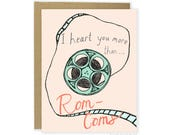 Funny Love Card, Funny Anniversary Card, Funny Valentine Card, Rom-Com Card, Movie Card, For Him, For Boyfriend, For Husband, Cute Love Card