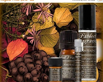 SALE SAMHAIN Perfume: Autumn Harvest Fruit, Black Currant, Mulled Fruit, Artisan Fragrance, Vegan Solid Perfume, Ships Out in 5-7 Days