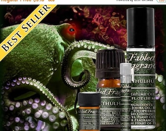 SALE CTHULHU Cologne: Ocean Incense Fragrance, Fresh Katrafay, Green Seaweed, Blackened Oud, Vegan Solid Perfume, Ships Out in 5-7 Days