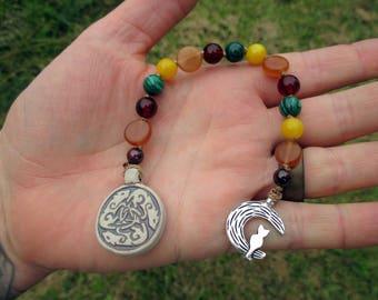 Freyja Mini Prayer Strand - Pocket prayer beads, travel prayer beads, pagan prayer beads - Norse goddess of sex, fertility, and war
