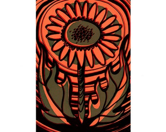 Psychedelic Flower Power Screenprint Hand Pulled Original Edition of 6 #2