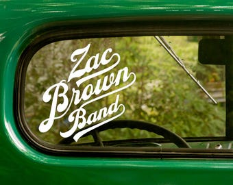 ZAC BROWN BAND Decal, 2 Stickers, Rock Band Decal, Music, Vinyl Sticker For Car Truck Rv Jeep Bumper Window