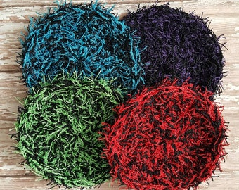 Set of 4 Colorful Scrubbies