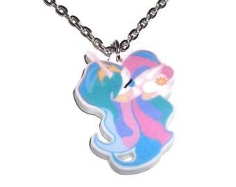 Princess Celestia Necklace, Sleeping Cute Pony,  My Little Pony Friendship is Magic