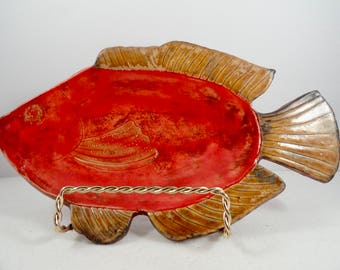Fish plate, fish server, fish tray, fish platter