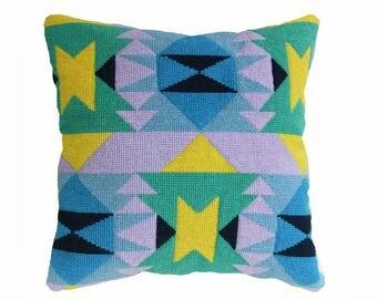 Needlepoint Kit, Verano 2. Modern Mexican / Navajo - style Cross Stitch kit