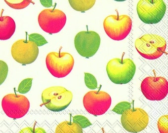 Full Pack - Napkins for Decoupage / Parties / Weddings - Juicy Apples