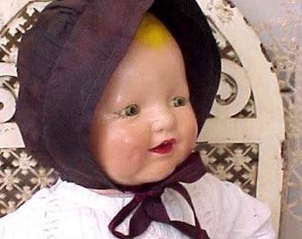 Sweet Antique Pennsylvania Dutch Amish Mennonite Child's Bonnet