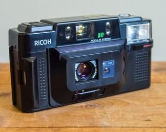 Ricoh FF-3 AF, Ricoh Camera, Ricoh, Film Camera, Film, Rikenon Lens, 35mm Film, Vintage Camera, Vintage, 1980's, Flash, Auto Focus, Retro