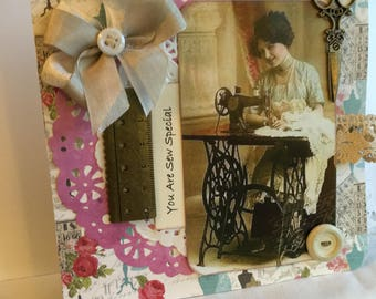 Sew Special ~~ Greeting Card~~~ Popular Handcrafted Sewing Theme~~~