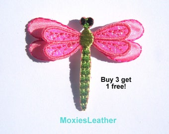 Dragonfly iron on patch applique  butterfly