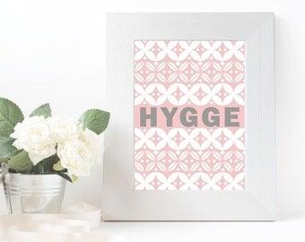 Digital Download, Hygge Wall Art, Scandinavian Wall Art, Instant Download, Pink Geometric Print