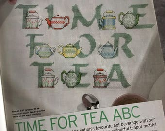TEAPOT ABC - Cross Stitch Pattern Only