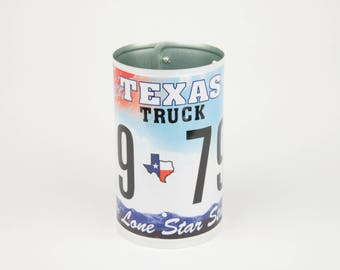 Texas License Plate Pencil Holder - Teacher Gift - Father's Day gift - Graduation gift - Gift for Moms Dads and Grads - Texas  Souvenir