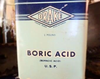 Old Boric Acid 1 Pound Tin