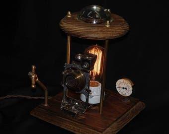 SteamPunk Table light