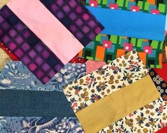 Handmade Quilt Squares / Vintage Quilt Squares / Handmade Quilt Squares / Retro Quilt Top / Vintage Quilt Top / Vintage Fabric Quilt Squares
