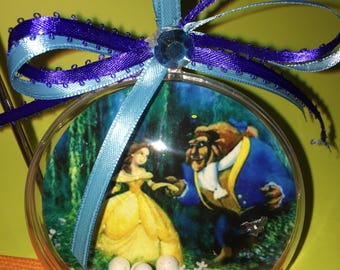 Beauty and the beast themed ornament