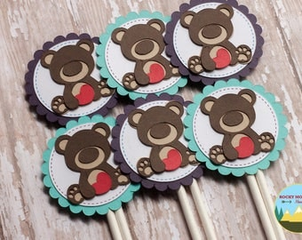 Teddy Bear Cupcake Toppers, Build-a-Bear Cupcake Toppers