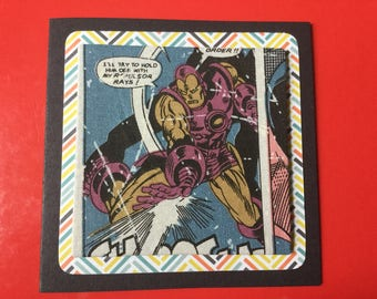 Fabric Marvel Card's - see variations