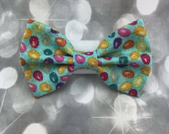 Easter Jelly Bean Mini Easter Egg Pastel with Gold Glitter Small Pet Dog Cat Bow / Bow Tie