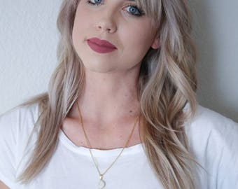Mindful Necklace - Druzy Quartz Necklace - Druzy Pendant Necklace - Gold Necklace - White Necklace - Chain Necklace - Gifts for Her