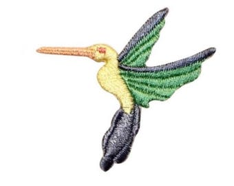 ID 0519B Tropical Flying Bird Patch Ocean Crane Embroidered Iron On Applique
