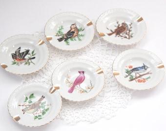 Vintage Ash Tray Set, Set of Bird Ash Trays, Star Set Ash Trays