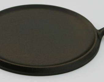 "Early Vintage Near MINT LODGE Larger Size 11 3/4"" No. 10 Cast Iron Handled GRIDDLE Professionally Cleaned & Organically Seasoned"