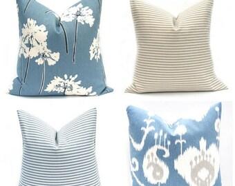 15% Off Sale Navy Pillow Blue Pillow cover Decorative Pillow Blue Pillow Accent Pillow Throw Pillow cover Toss Pillow Navy pillow cover tick