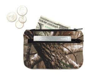 Realtree Camo Coin Purse Wallet - 2 Zipper Change Purse Pouch - Small Wallet -  Camouflage Coin Pouch - Small  pouch