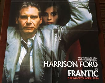 Movie Poster, Frantic directed by Roman Polanski with Harrison Ford.