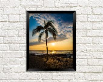 Sunset Photo - Hawaii Sunset - Hawaiian Sunset - Maui Sunset - Photography Print photo