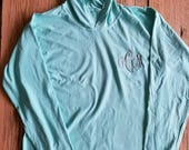 Embroidered Monogrammed Comfort Colors Long Sleeve Hooded T Shirt