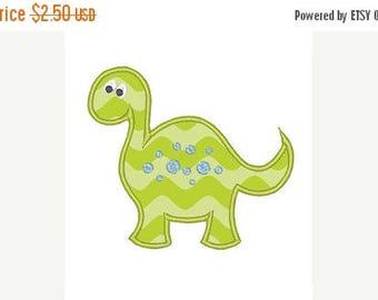 25% OFF Dinosaur Applique Embroidery Design - Instant Download