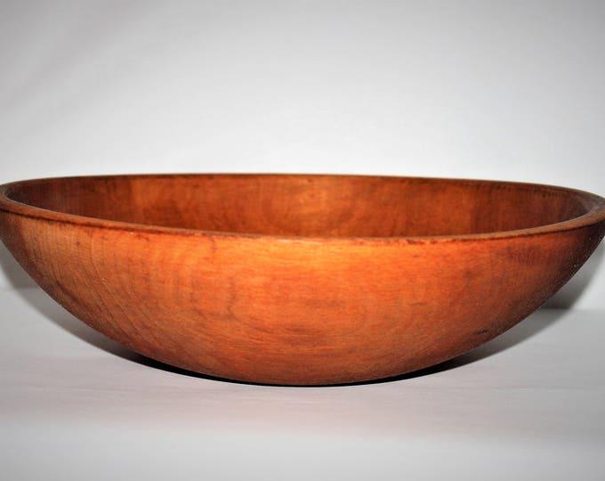 Antique Wood Dough Bowl Solid Maple