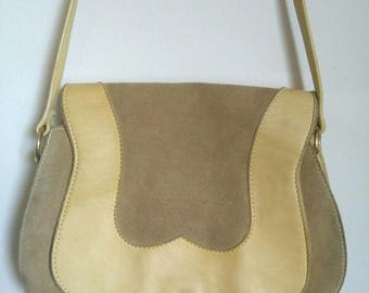 Vintage suede leather seventies purse