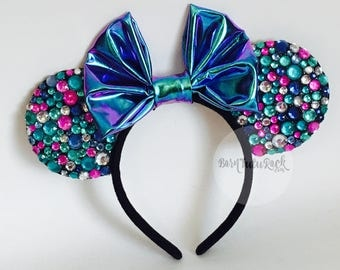 Mermaid Mouse Ears // Unicorn Mouse Ears // READY to SHIP // by Born Tutu Rock