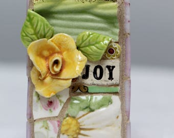 JOY, mosaic wall art, gift, mosaic, mosaic art