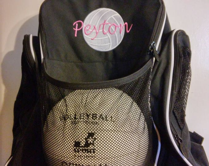 Personalized/Monogram/soccer/basketball/volleyball backpack/sports bag/Athletic bag/boys girls/gym bag/birthday gift/team sports/