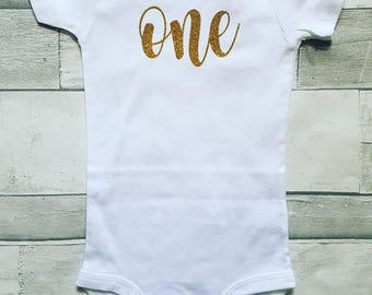 First Birthday  Onesie or Tee.