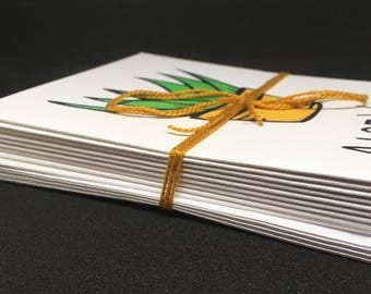 Set of 10 Blank Note Cards