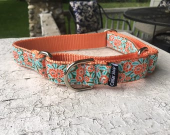 "Daisies for Callie -  1"" Martingale Collar"