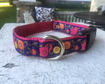 "Trixie's Garden -  1"" Buckle Collar"